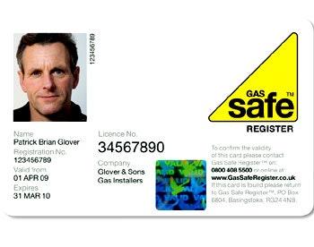 Gas Safe Register ID card
