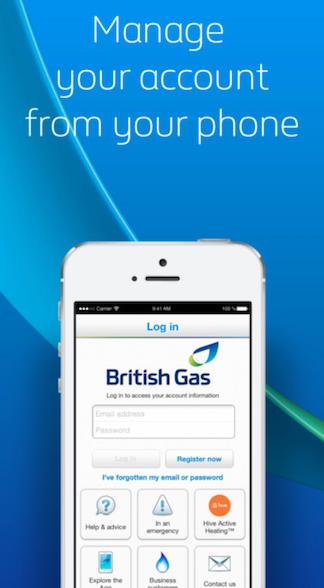 british gas app