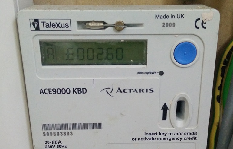 There will usually be a button on your meter that will provide you with a meter reading