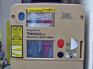 A prepayment meter has a slot for you to put your top-up card in to increase your energy credit.