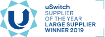 large supplier of the year award logo