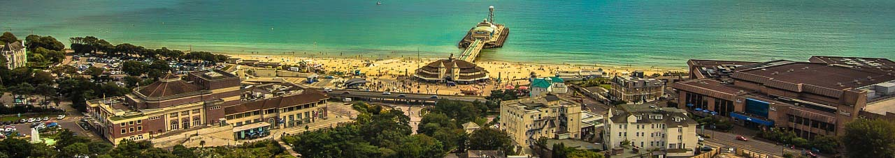 Bournemouth coast panorama