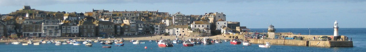 st ives cornwall water light house harbour wall