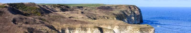 Chalk cliffs at Flamborough head on the yorkshire coast United Kingdom