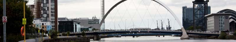 view of the Clyde Arc bridge