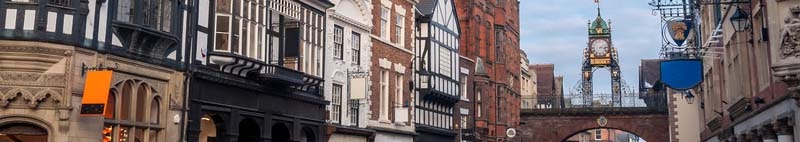 Chester medieval buildings in England