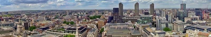 Panorama of business quart north east London