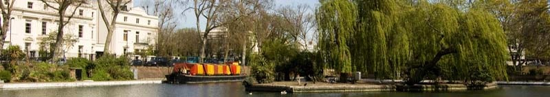 View of the part of West London known as Little Venice in Paddington