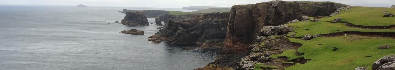 Shetland islands coast