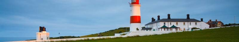 Souter lighthouse on the coast of Tyne and Wear,Sunderland, UK