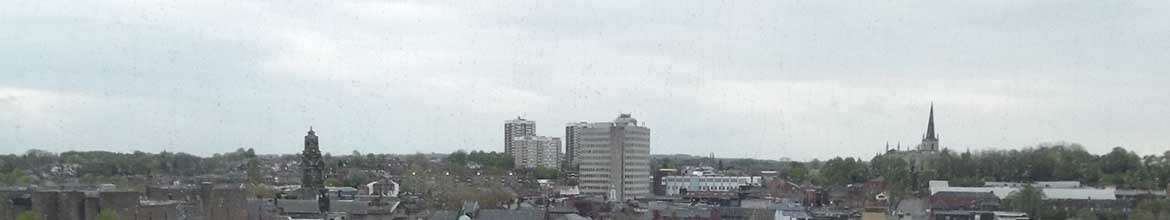 Walsall shopping from New Art Gallery Walsall, United Kingdom