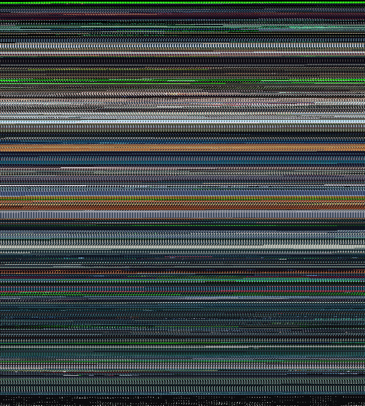 Ghost in the Shell compressed so that each frame is a single 5x5 pixel