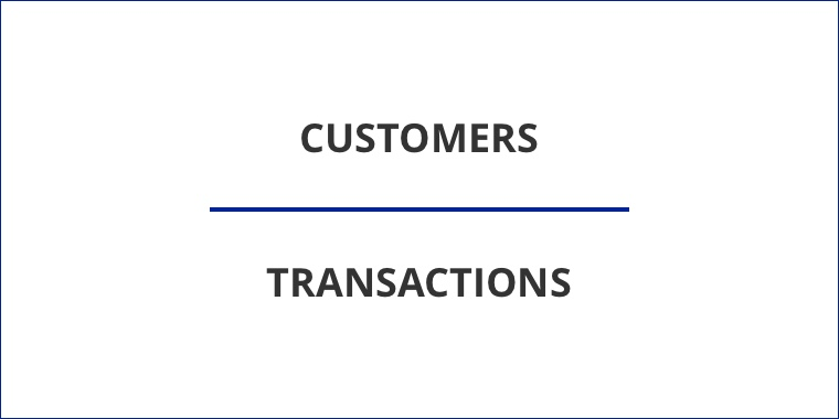 Customers over transactions