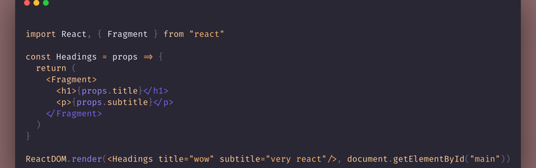 React.Fragment and Semantic HTML